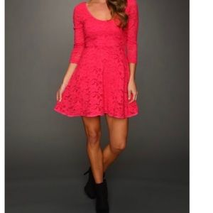 Free People Pink Lace Dress
